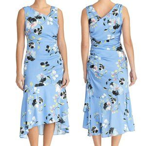 Rachel Roy Collection NEW Ruched Floral Midi Dress